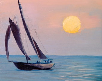 Set Sail - Oil Painting - 11x14in. Print