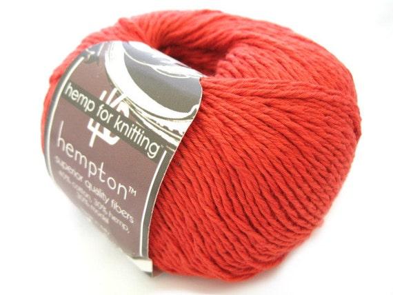 Modal Knitting Yarn : Hemp cotton yarn dark coral dk weight yd