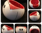 Boo the Ghost Ceramic Bowl (Made to Order and Customizable)