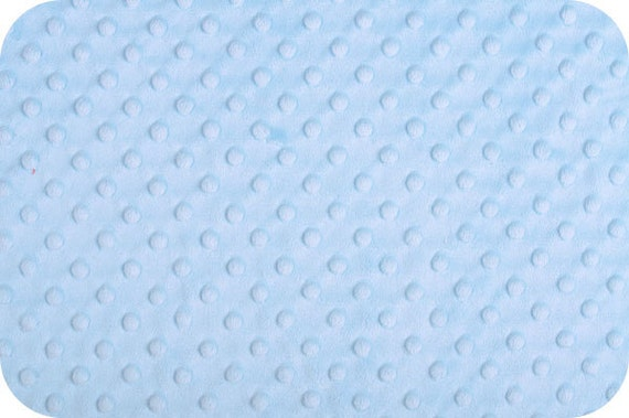 "Baby Blue Cuddle Dimple Dot Minky by Shannon Fabrics, Fat Half (30"" x 36"")"