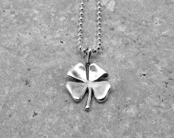 Shamrock Necklace, Four Leaf Clover Jewelry, Shamrock Jewelry, Sterling Silver Jewelry, Shamrock