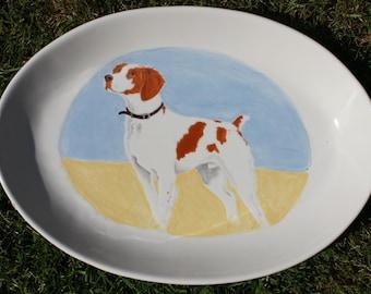Custom Pet Portrait Ceramic Platter Dog Portait Cat Portrait Horse Portrait