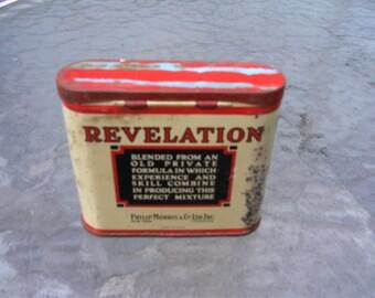 1940s or 50s Revelation Smoking Mixture Tin