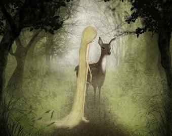 Misty woodland - Art print (3 different sizes)