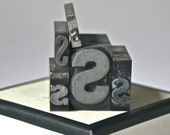 Letter S Antique Letterpress Type for Steampunk Collage Printing Altered Art