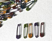 Tiny Colored Safety Pins for Jewelry Making Craft Supplies Collage