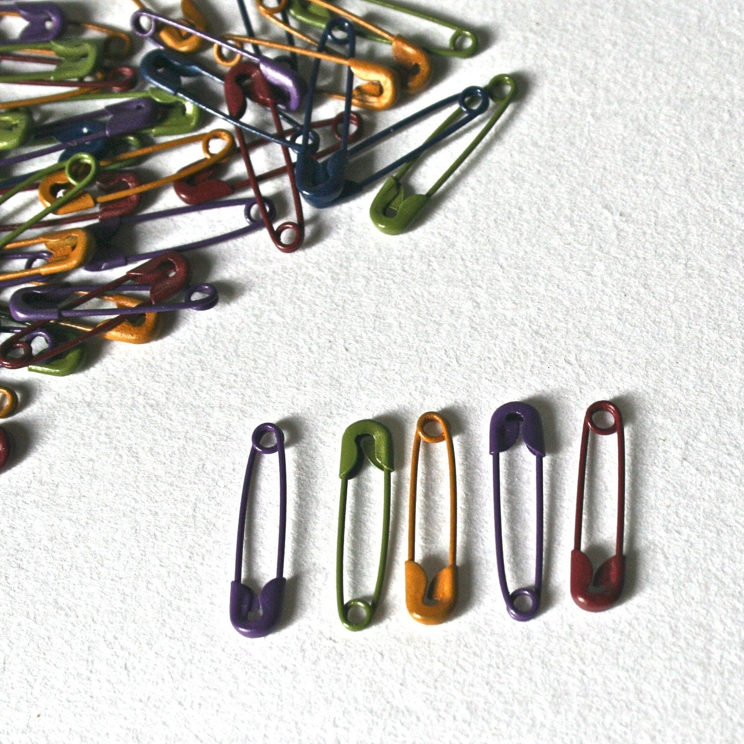 tiny colored safety pins for jewelry making craft supplies