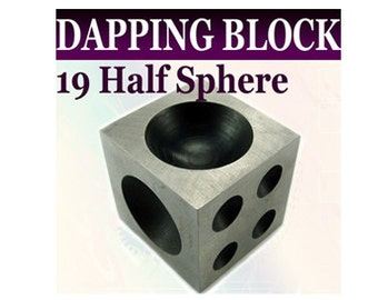 "19 half sphere 2""x2""x2"" Dapping Doming Block  - DB9820"
