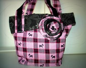 Little Black and Pink Scotty Dog tote