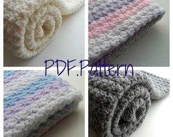 Blanket Crochet Pattern - afghan lapghan PDF