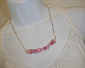 Pink Agate Swing Necklace