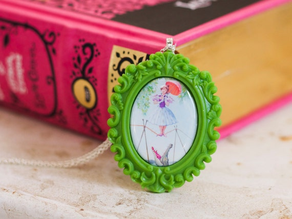 Tightrope - ONE LEFT - cameo necklace