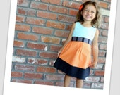 """The """"Audrey"""" Toddler Dress in Colorblock"""