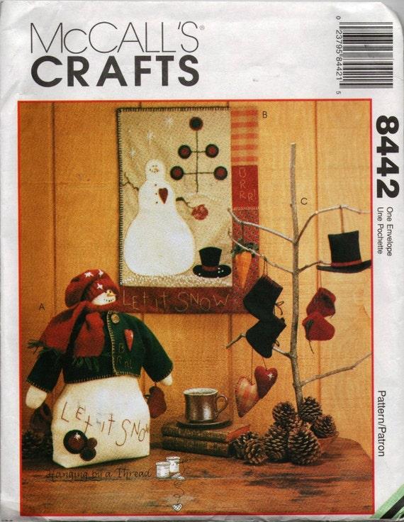 McCalls 8442 Christmas Snowmen Quilt Ornaments Pattern