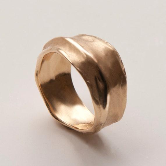 wrap no 1 14k gold ring unisex ring wedding ring