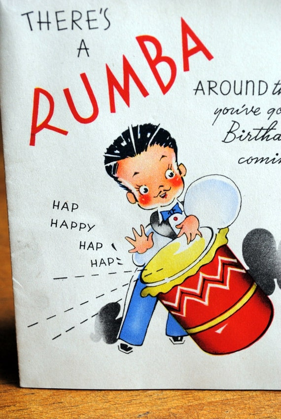 1930s Rumba Birthday Card