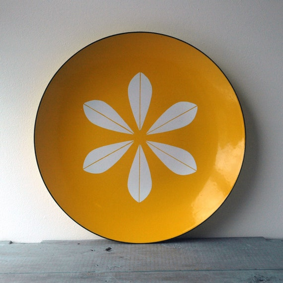 Large Yellow Cathrineholm Plate