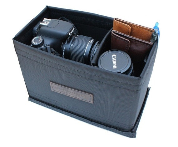 Medium Padded Camera Insert - Adjustable Divider - Padded Bottom - crafted from water resistant nylon -  Made in the U.S.A.
