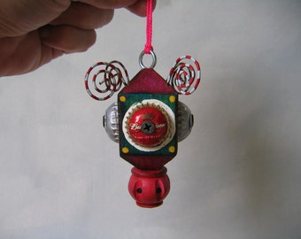 Hanging Found Object Sculpture / Ornament 3 by Fig Jam Studio