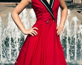 Red Sailor-style dress