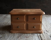 Wooden Jewelry Box - Rustic Vintage