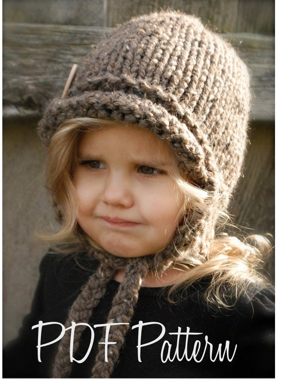 Knitting PATTERN-The Dakota Cap (Toddler, Child, Adult sizes)
