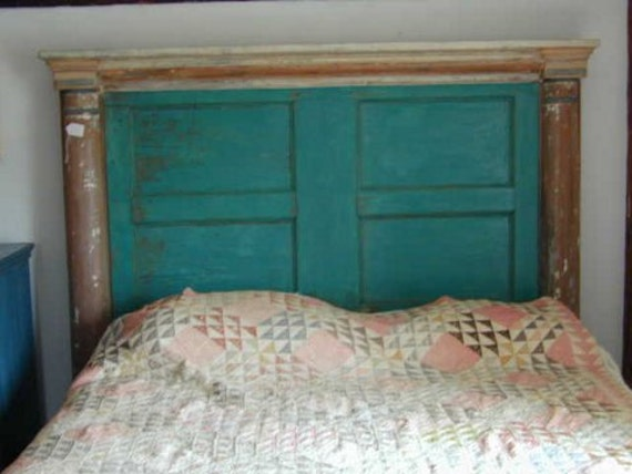 h14 artistic headboard or bed made from antique architectural