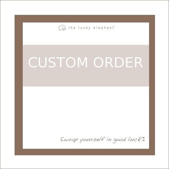 Custom Order Tianna - the lucky elephant leather wrap bracelet