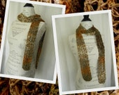 Lacy Loops Crochet Scarf - Earth - Handmade - Ready to Ship