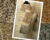Earth Stripes Hand Knit Scarf - Handmade - Ready to Ship