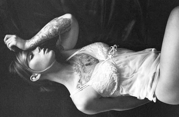 60's Sheer Nylon White Babydoll Nightie Night Gown