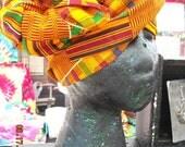Kente Multi Use Accessory-Turban, Scarf,Head Wrap,Sash,Table Runner