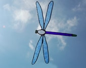 Stained Glass Dragonfly Suncatcher No.65