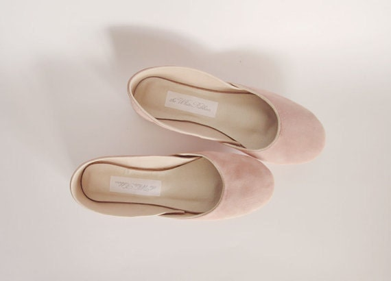 new. Soft leather ballet flats. Blush suede.