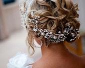 Birdcage Veil with Crystal Rhinestone Hair Piece