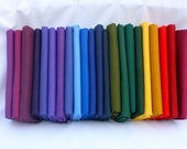 "Destash 22 Rainbow 20.5"" x 18"" Fat Quarters"
