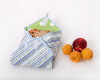Reusable Sandwich Wrap Blue stripes