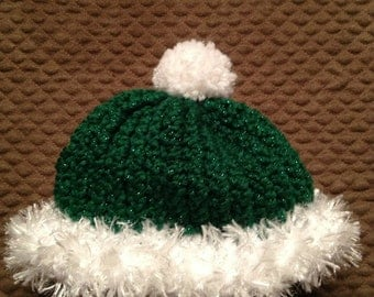 Christmas Baby Santa Hat Green