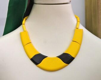 Rare...GUILLEMETTE L'HOIR Paris Necklace Collier circa 1970