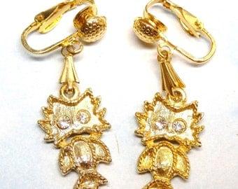 Vintage Park Lane Owl Clip On Earrings, Owl Earrings