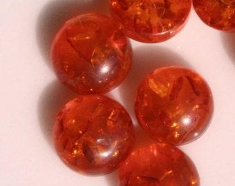 8 pcs 8 mm Baltic Amber (Imitation) Round cabochon 01 for FedEx  80CB