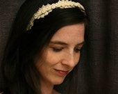 bridal lace headband -OUR LOVE is SPECIAL- ivory