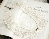 lace collar necklace -ELIZA- ecru beige ivory