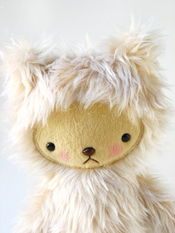 LAST ONE Kawaii Teddy Bear Plushie Tawny Shag Faux Fur Large LARS