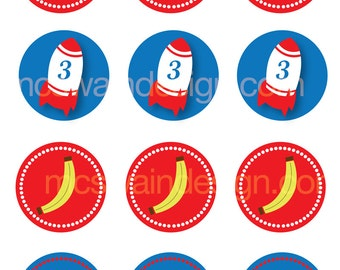 Curious George Inspired Party Circles - Printable