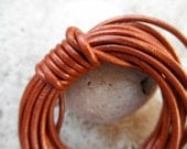 Leather Cord Round - 2mm - Metallic Copper - By the Yard