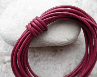 Cyclamen - 1.5mm Leather Cord - By the Yard