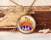 Phoenix out of the Ashes - Vintage Necklace