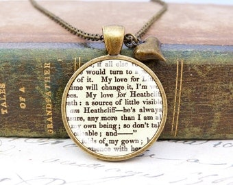 "Wuthering Heights ""Love"" - Literature Necklace"