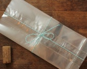 24 - Cellophane Bags - premium gusseted crystal clear bags